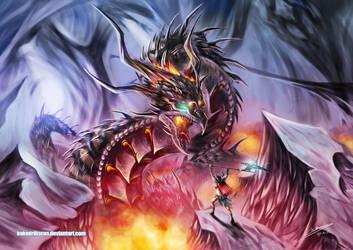 A Burning Battle by Dragolisco