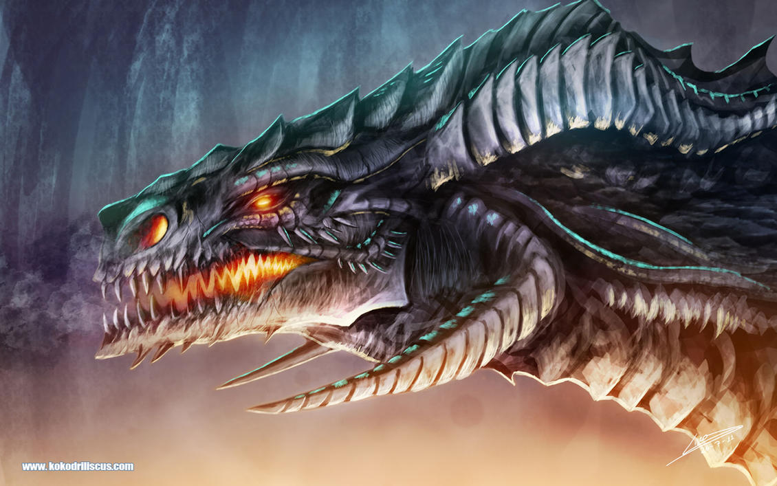 Portrait of a Black Dragon 2 by Dragolisco