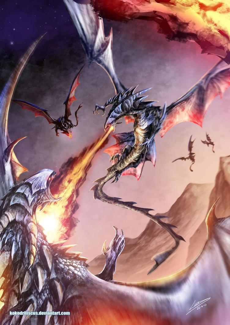 Aerial Struggle by Dragolisco