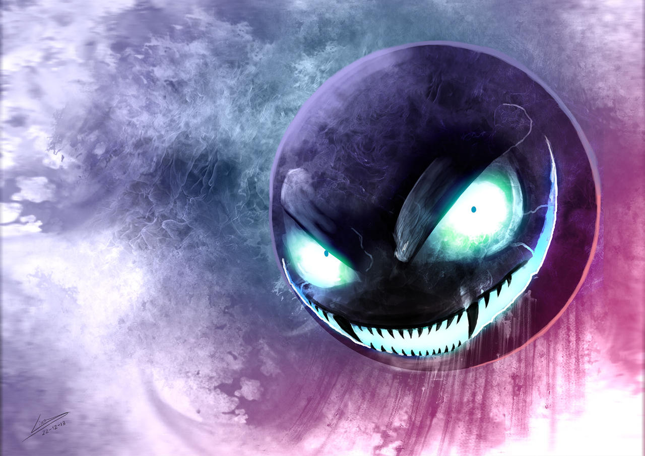Creepy Gastly By Dragolisco On Deviantart