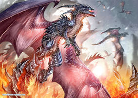 Over the flames by Dragolisco