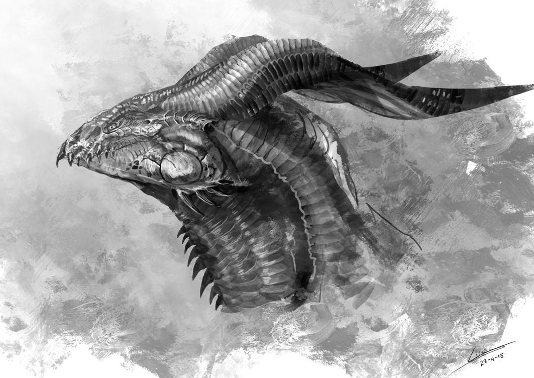 Dragon face concept by Dragolisco