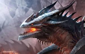 Portrait of a Black Dragon 3 by Dragolisco