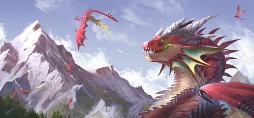 The Valley of Dragons by Dragolisco