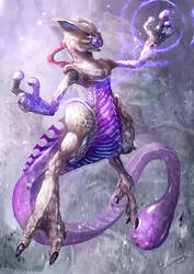 Mystic Mewtwo Remastered by Dragolisco