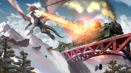Attack on armored train (Commission)