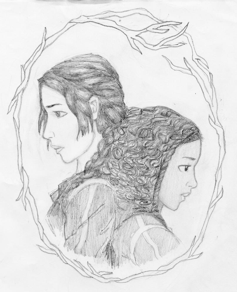 Hunger games coloring pages online - Katniss And Rue By Skygazer17