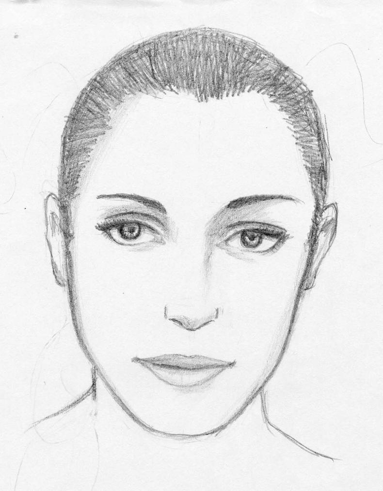 Woman S Face Line Drawing : Woman s face by skygazer on deviantart