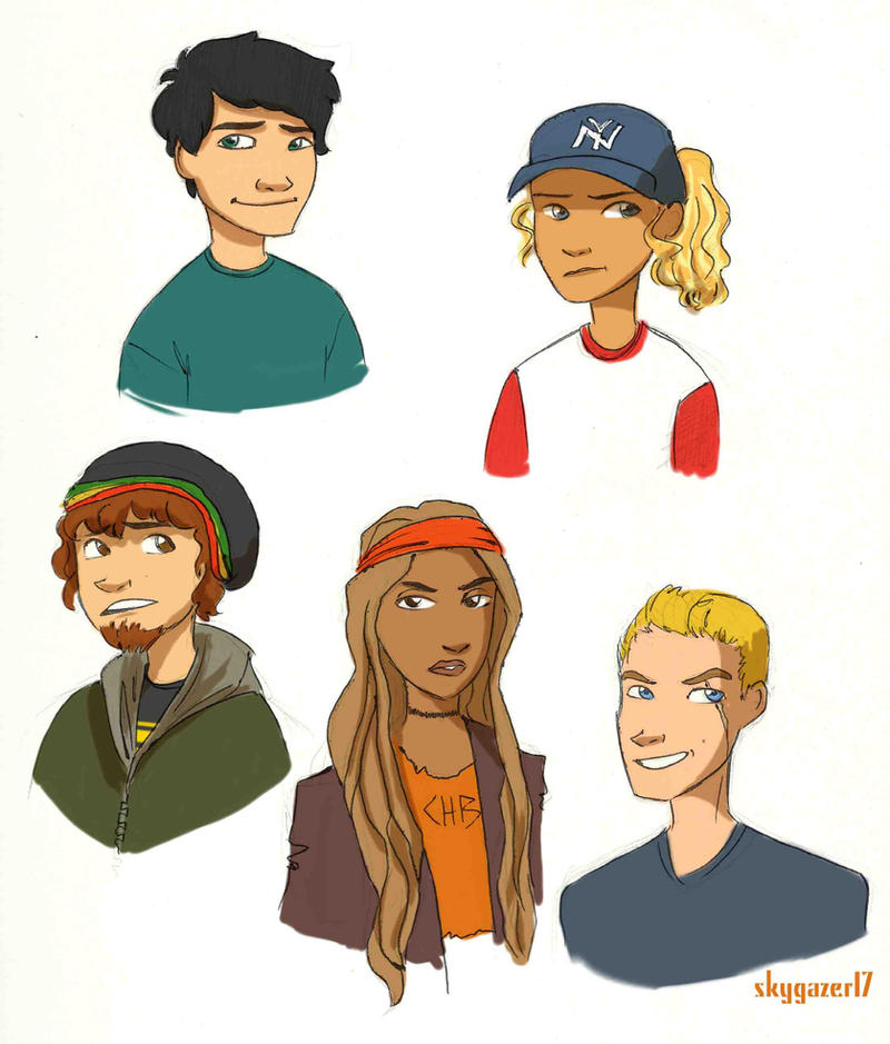 Lightning Thief Demigods by skygazer17