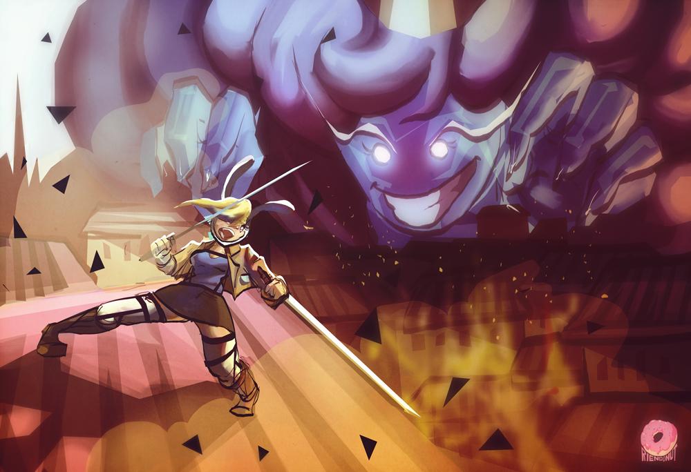 Commission: Adventure Titan by Riendonut