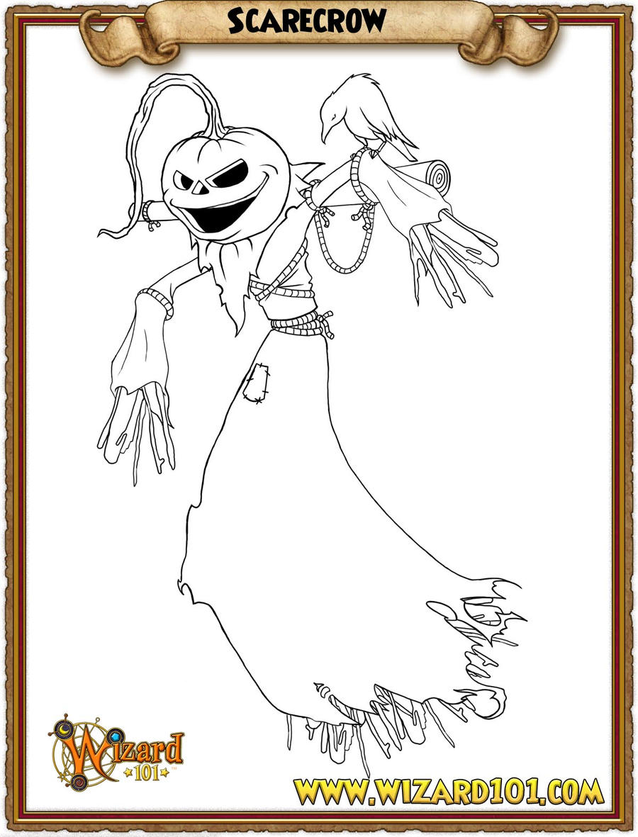 coloring pages scarecrow by wizard101devinstale coloring pages scarecrow by wizard101devinstale