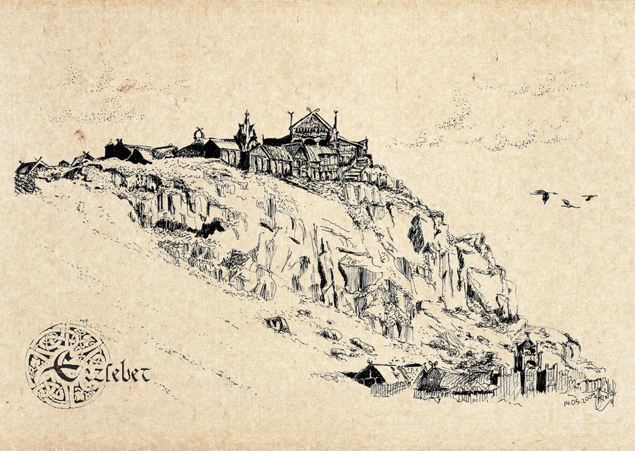 Edoras, Golden Hall of Rohan by erzsebet-beast