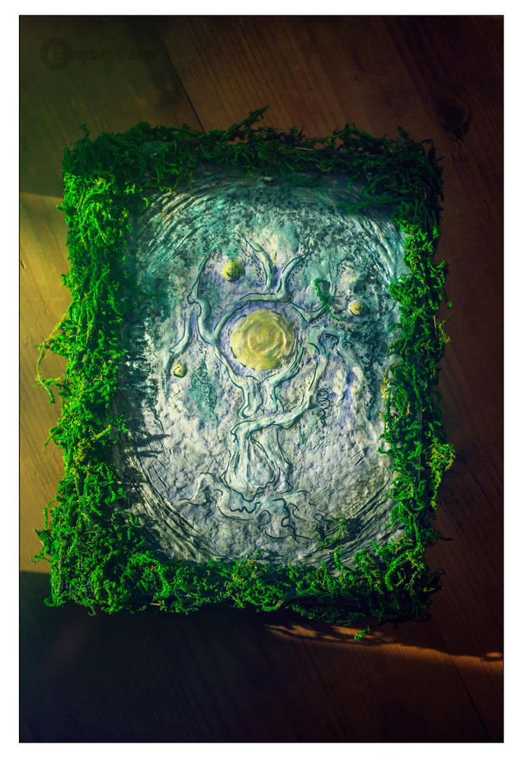 'Heart of Swamp' hand-made book by erzsebet-beast