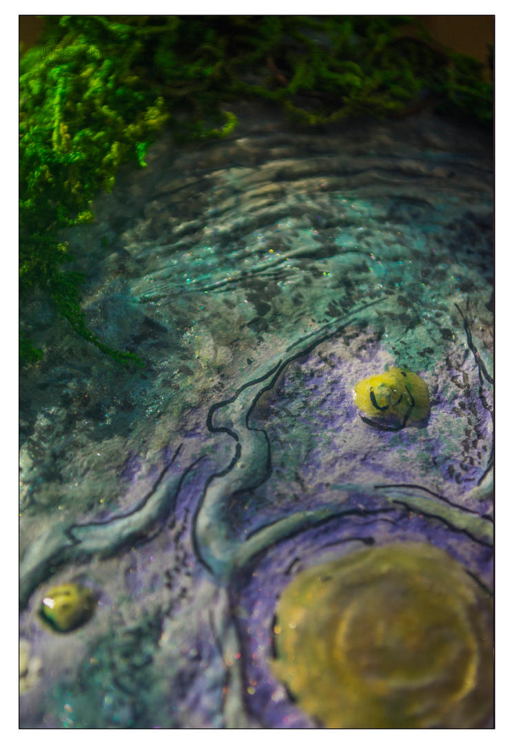 'Heart of Swamp' hand-made book (cover fragment) by erzsebet-beast
