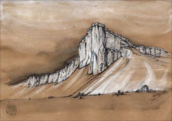 Ak-Kaya, the White Rock in Crimea by erzsebet-beast