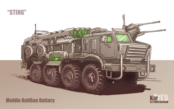 Mobile RailGun Battary Sting by KaranaK