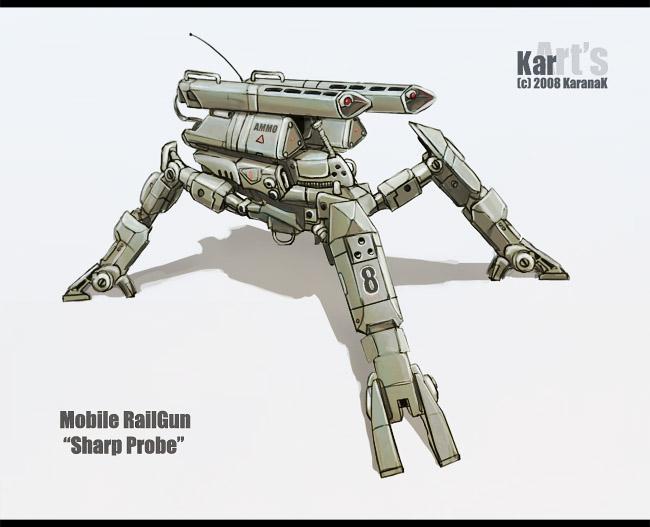 Mobile RailGun Sharp Probe by KaranaK