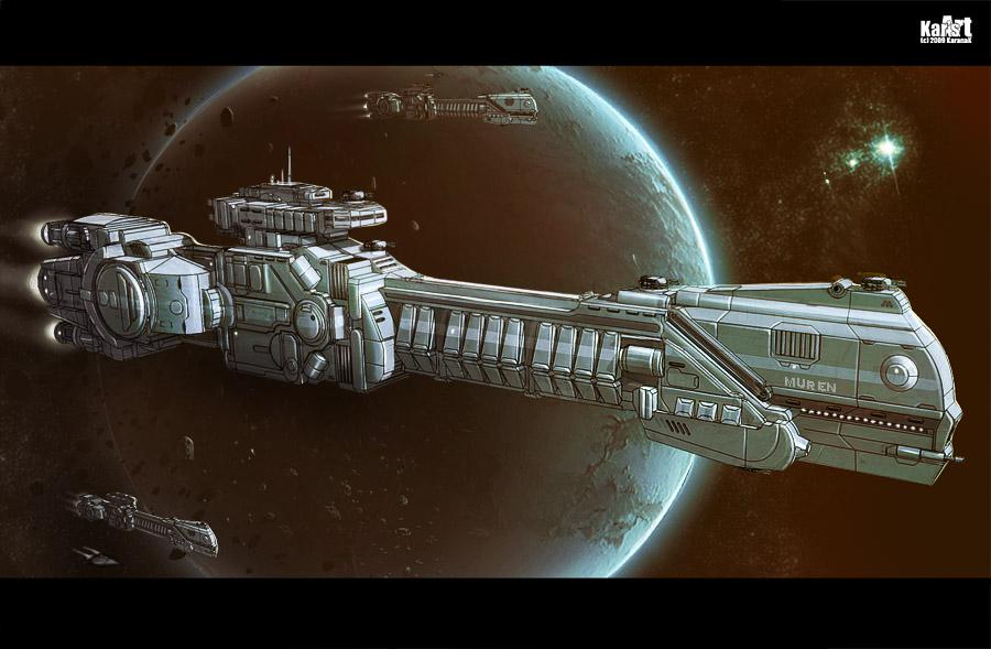 Battleship Muren by KaranaK