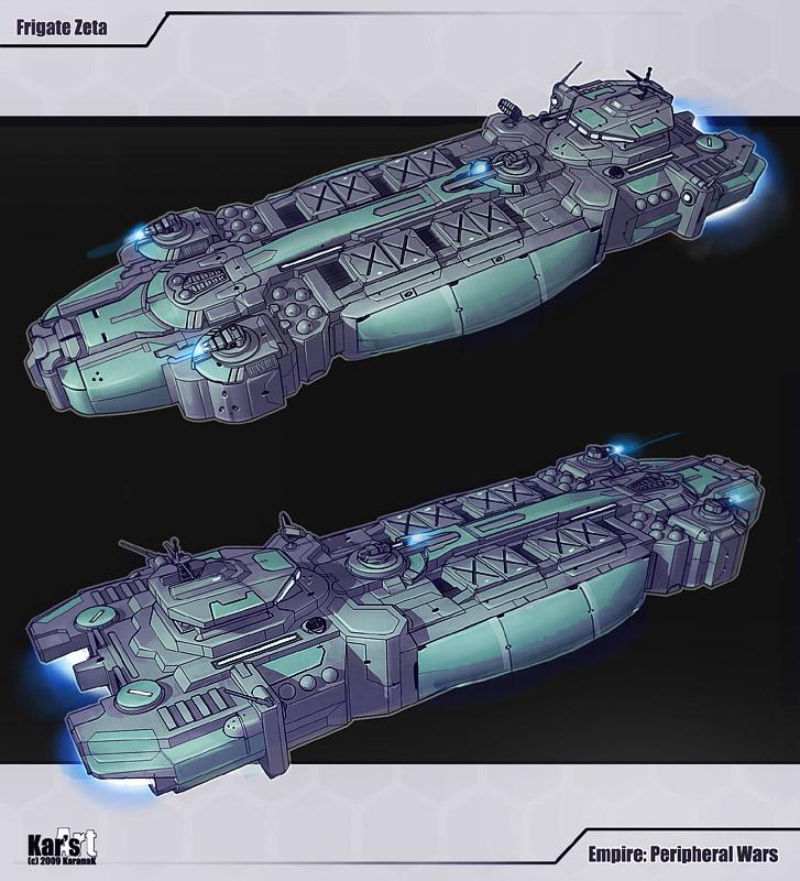 Frigate Zeta by KaranaK