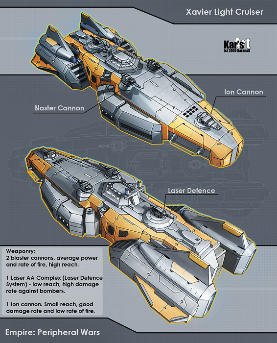 Xavier Light Cruiser by KaranaK