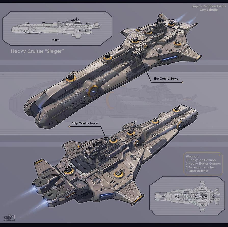 Heavy Cruiser Sieger by KaranaK