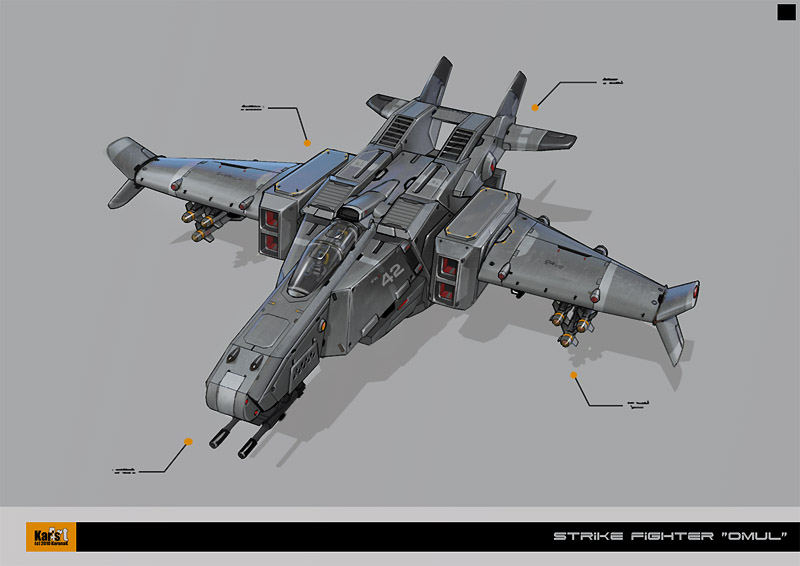 Strike Fighter OMUL by KaranaK