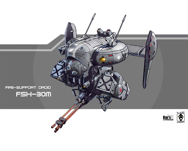 Fire-support Droid FSX-30m by KaranaK