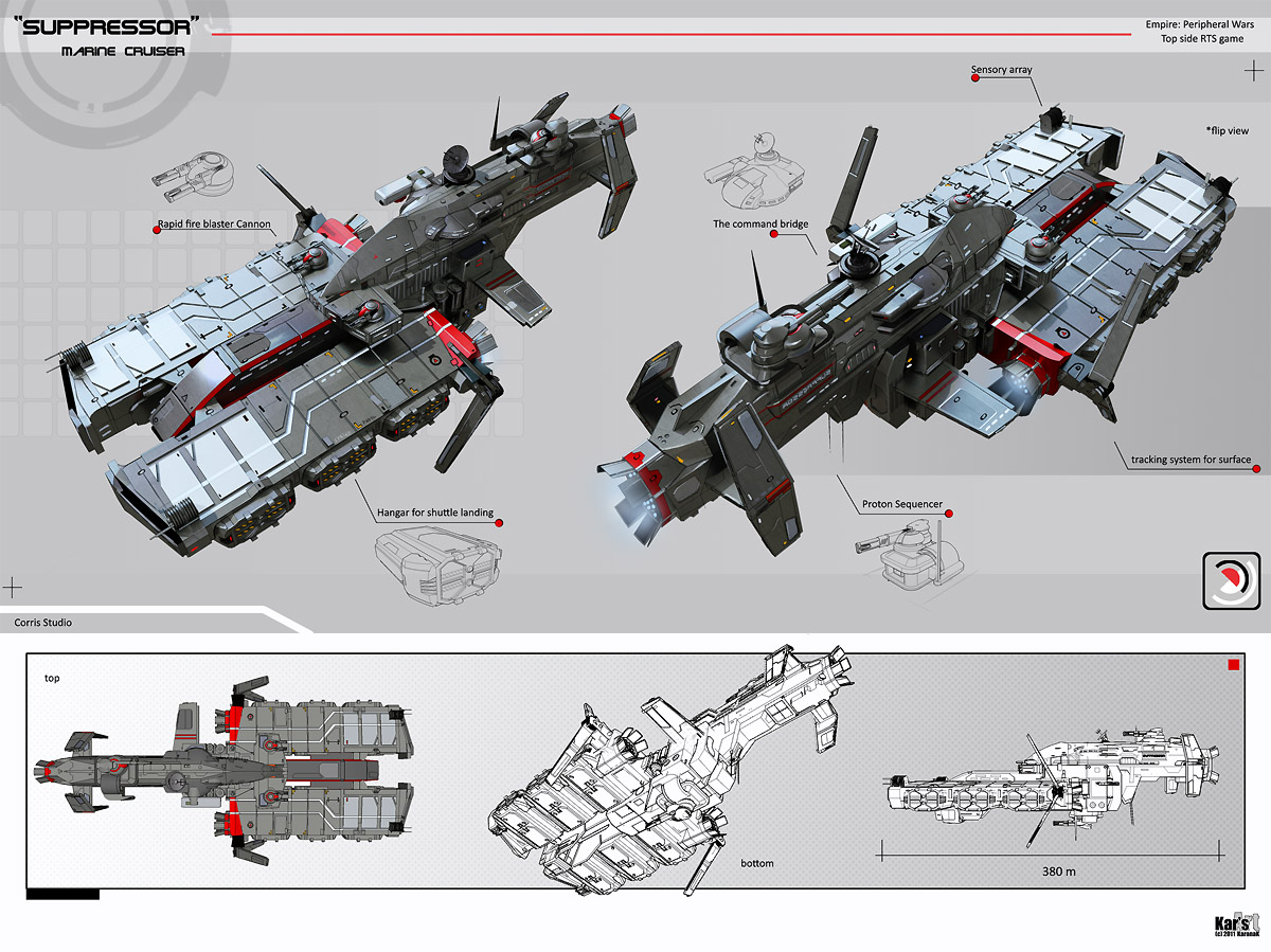 Suppressor Marine Cruiser by KaranaK