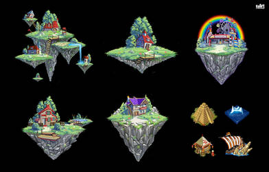 Flying Islands by KaranaK