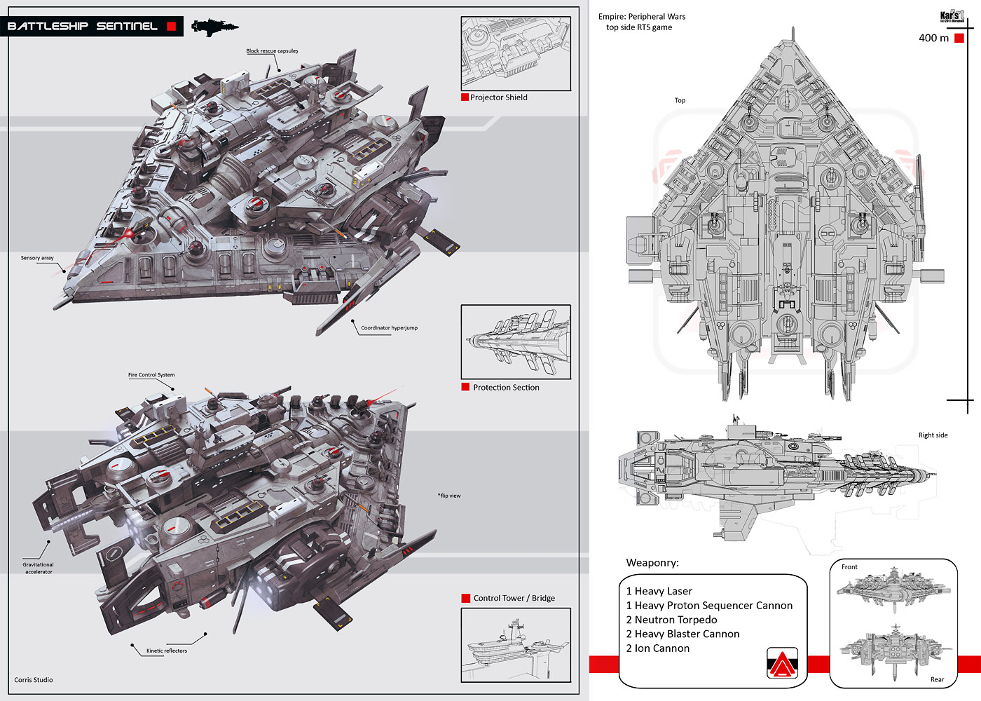 Battleship Sentinel by KaranaK