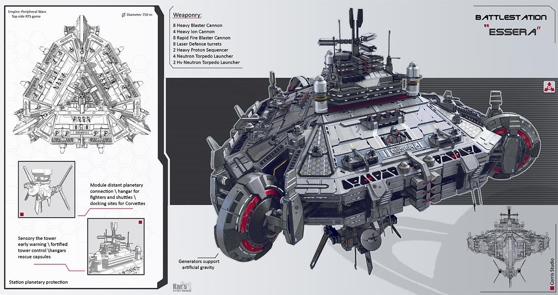 Battlestation Essera by KaranaK