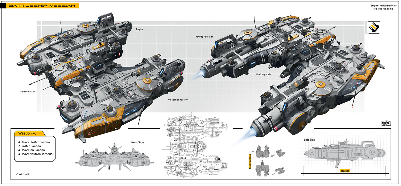 Battleship Messiah by KaranaK