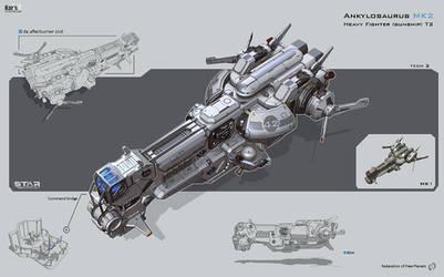 Ankylosaurus by KaranaK