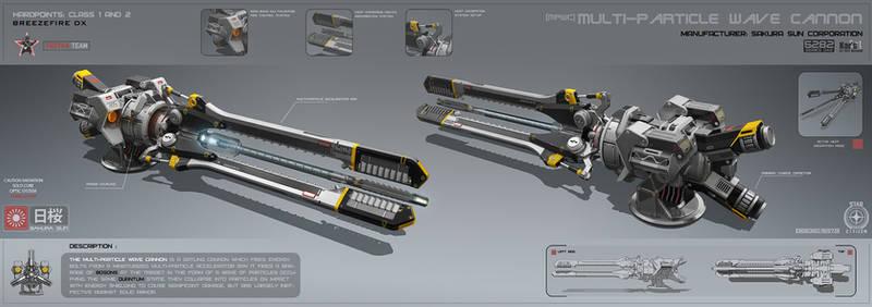 Multi-particle wave cannon