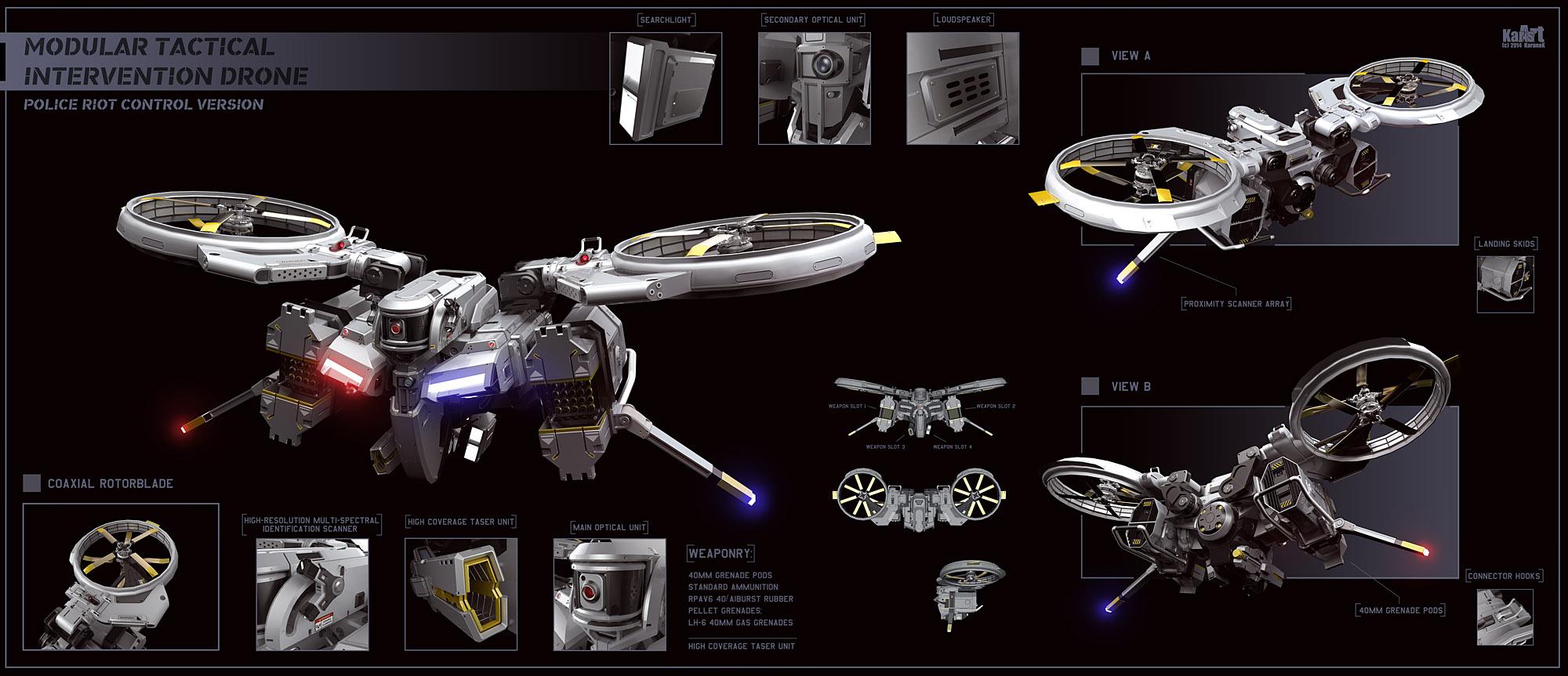 Riot Control Drone by KaranaK