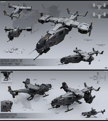 Light VTOL gunship
