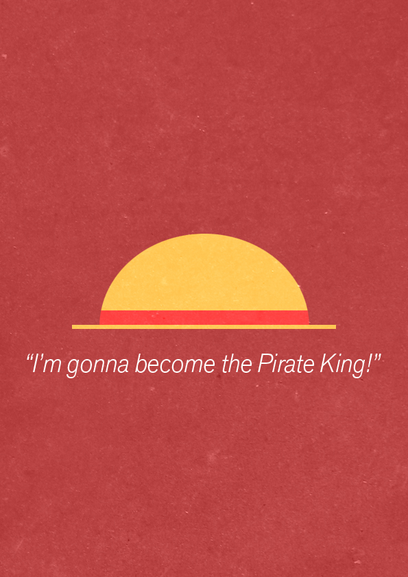 Minimalist Poster: Pirate King by JustTomTom
