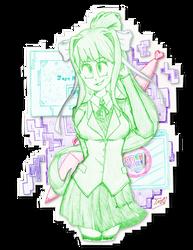 The Literature Club's President...Just Monika
