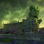 Post Apocalyptic Royton NHS Doctors Building by bernardtime