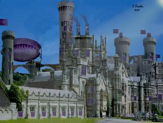 Tomorrowscape The Royal Palace of Pluan by bernardtime