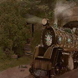 Tomorrowscape: Gnovan Dreadnought Train by bernardtime