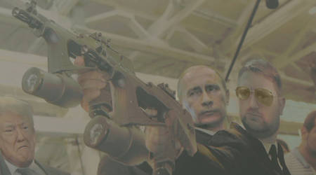 Me And P. Vladimir Putin Shooting...oh and P.Trump by bernardtime