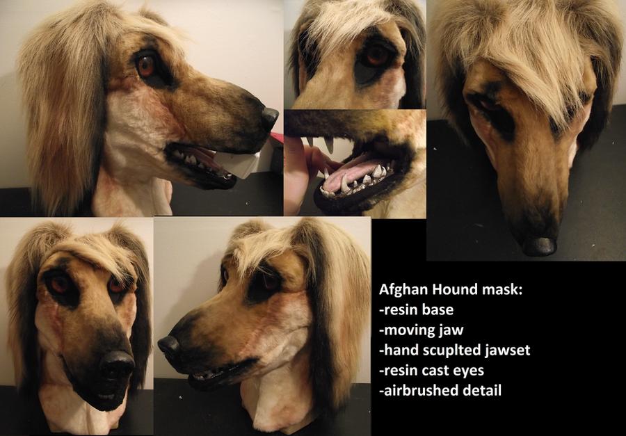 Afghan Hound Mask by Toriroz