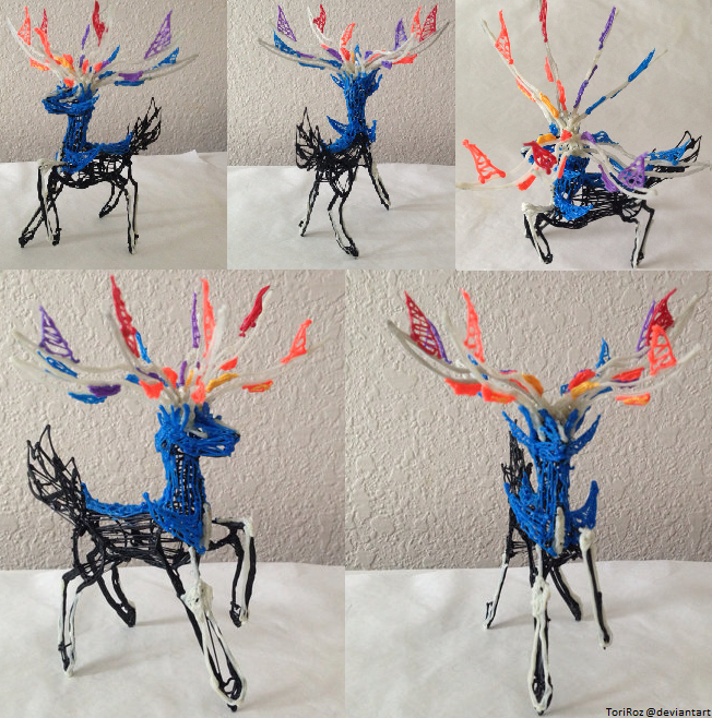 Xerneas 3Doodler Sculpture by Toriroz