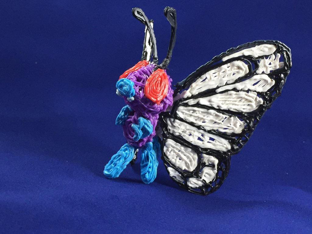 Butterfree 3D printed pen sculpture by Toriroz