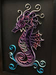 Purple Seahorse Paper Quilling