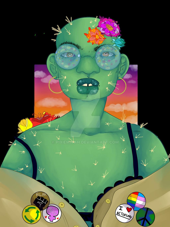 Cactus Grunge by pixiemwah