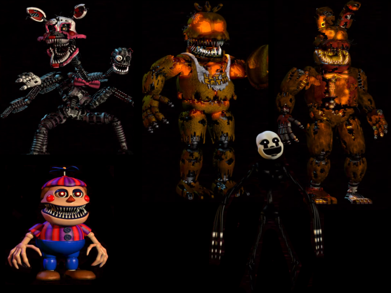 FNAF 4 Halloween Update Characters by nathano2426 on DeviantArt