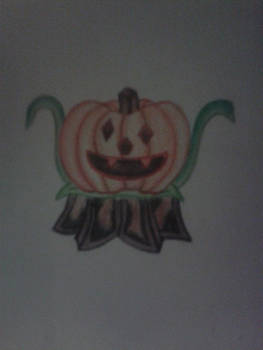 A Pumpkin with Vines