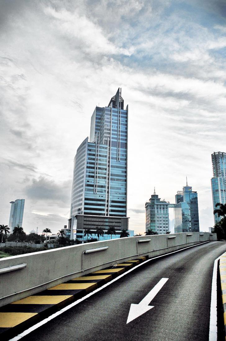 Cityscape of Jakarta by jan2710